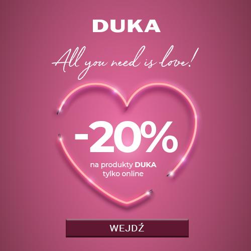 20% zniżki na wszystkie produkty marki @Duka