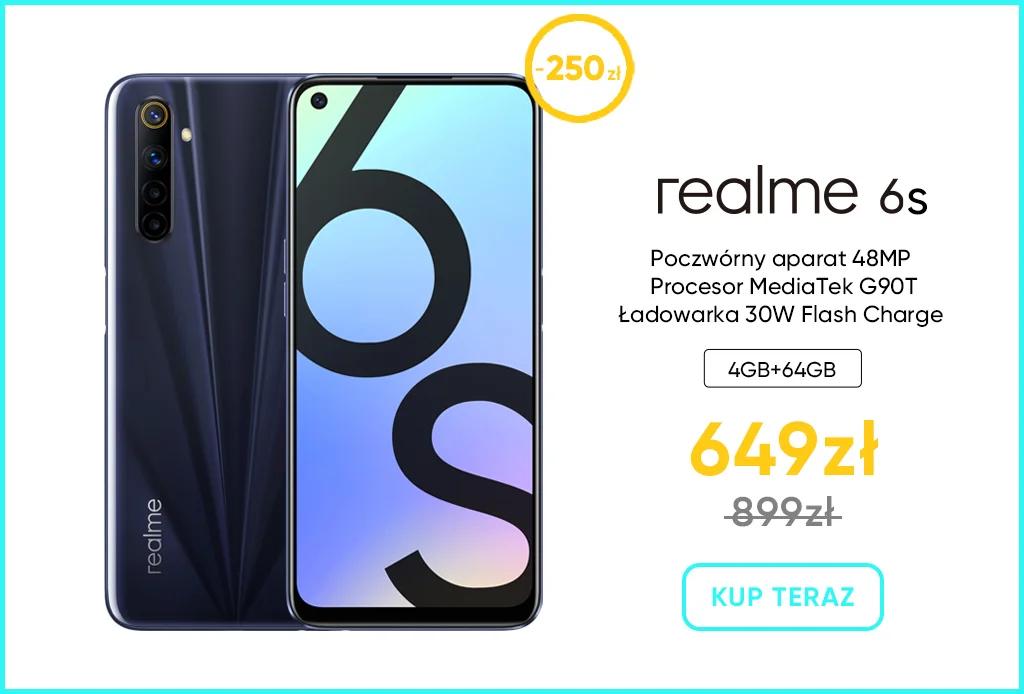 Tłuste oferty na tłusty czwartek w sklep-realme - smartfon realme 6s
