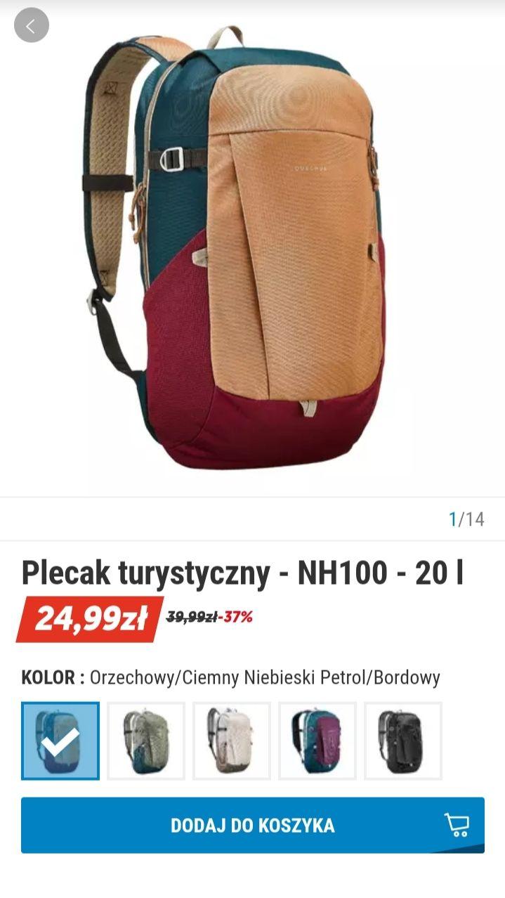 Plecak turystyczny NH100 - 20l Decathlon