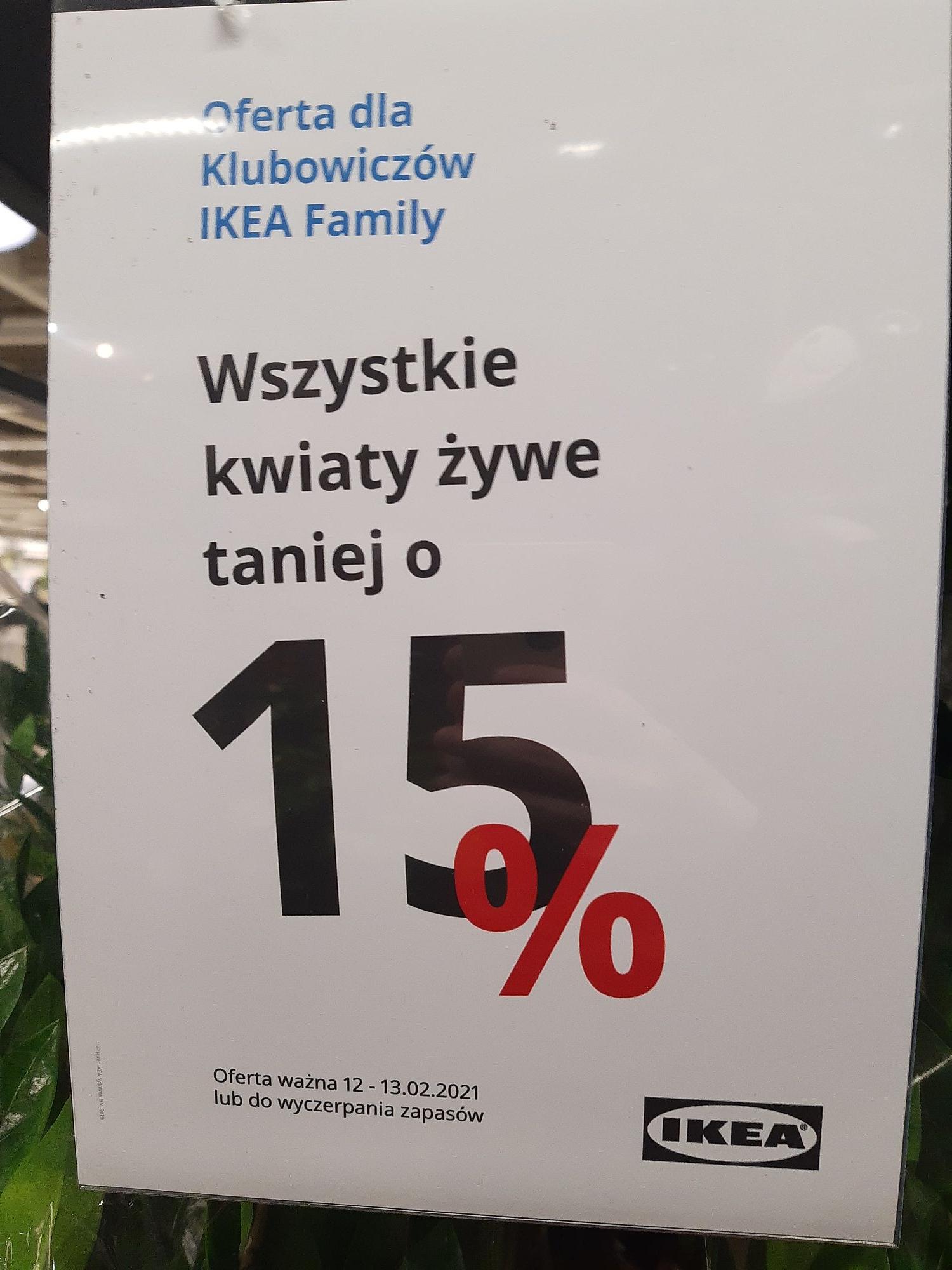 IKEA Gdańsk kwiaty żywe -15%