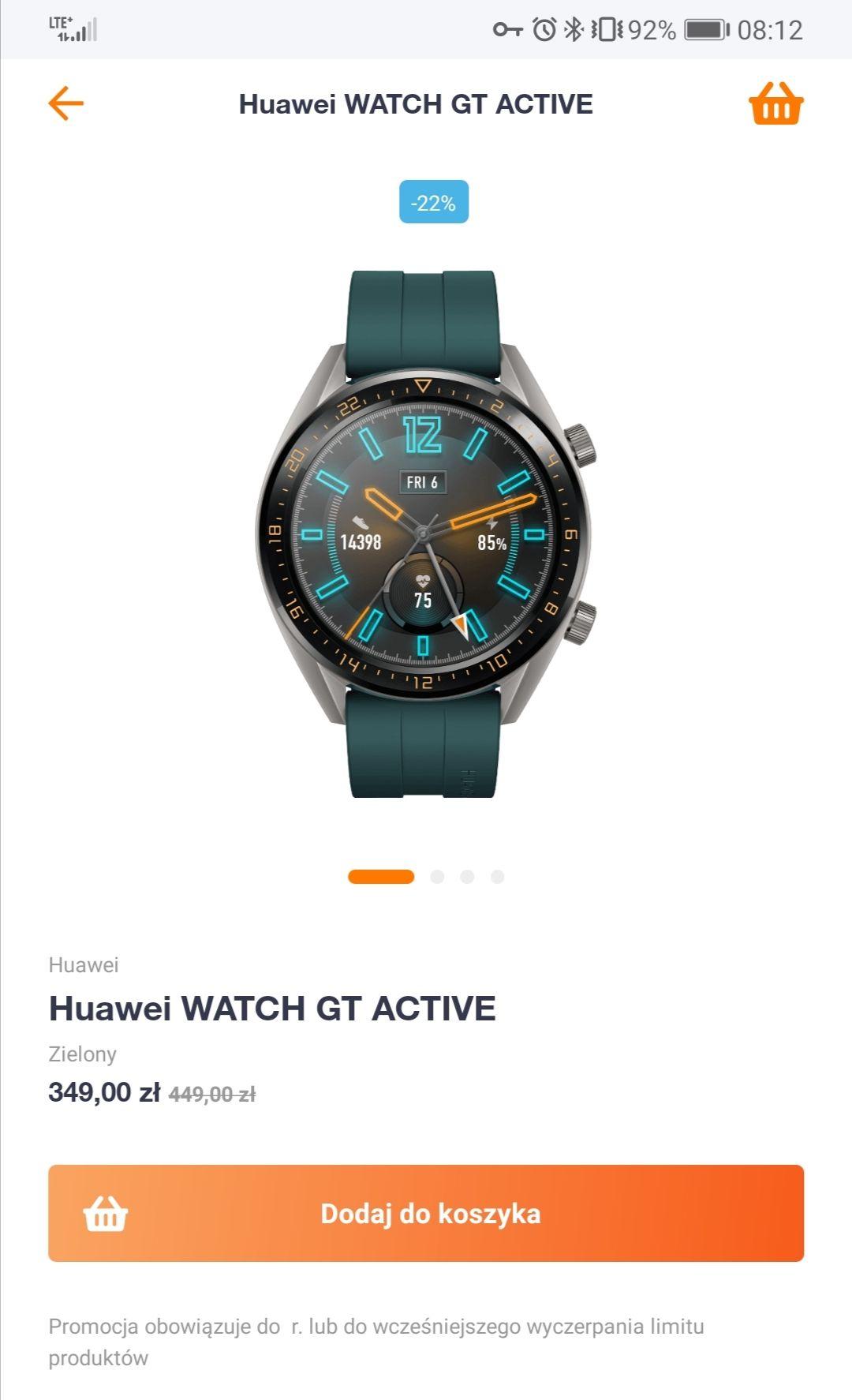 Huawei Watch GT Active - Orange Flex