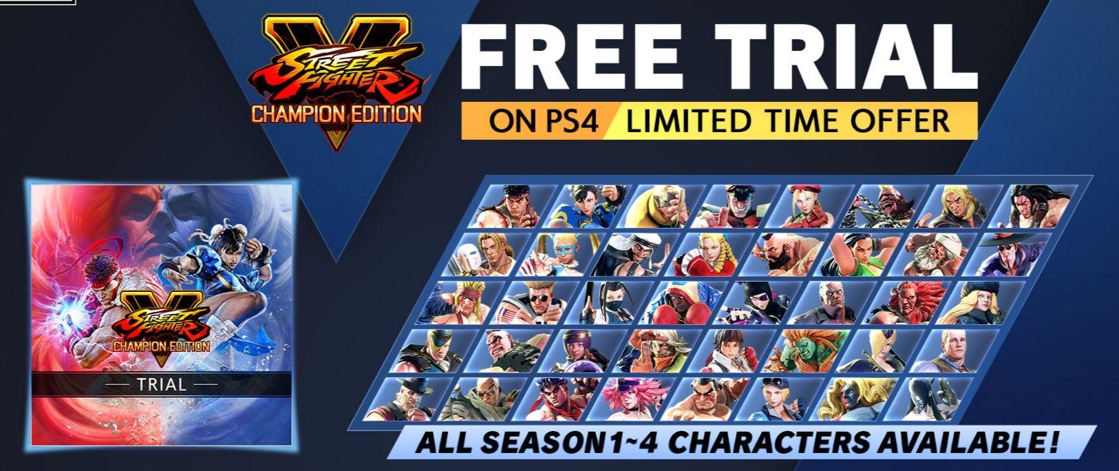 Graj za darmo w Street Fighter V: Champion Edition na PlayStation do 24 lutego