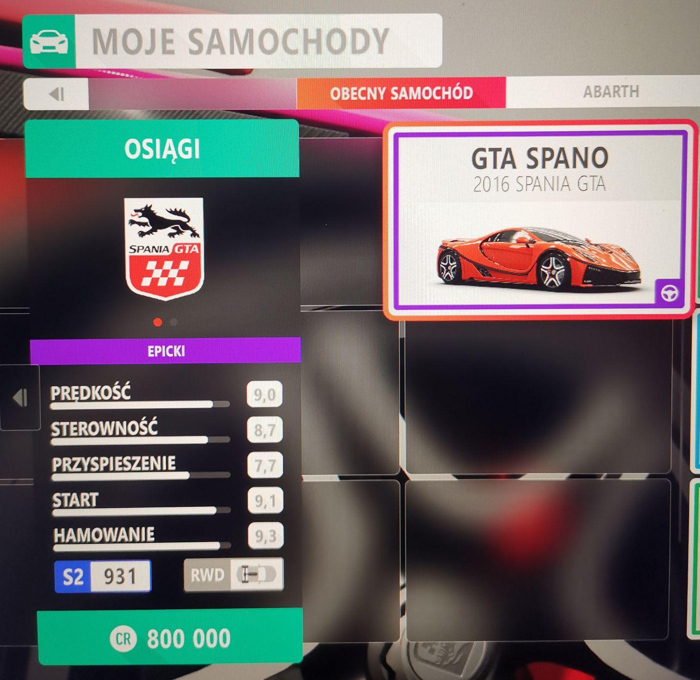 Prezent w grze Forza Horizon 4 - GTA Spania 2016