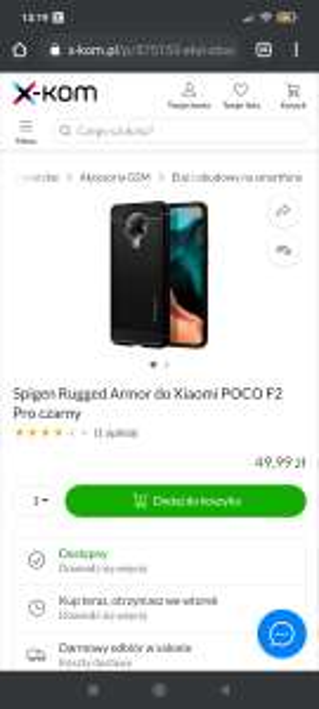 Etui Spigen Rugged Armor do Xiaomi POCO F2 Pro czarny w X-kom