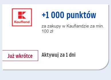 1000 pkt Payback za zakupy w sklepie Kaufland min. 100 zł