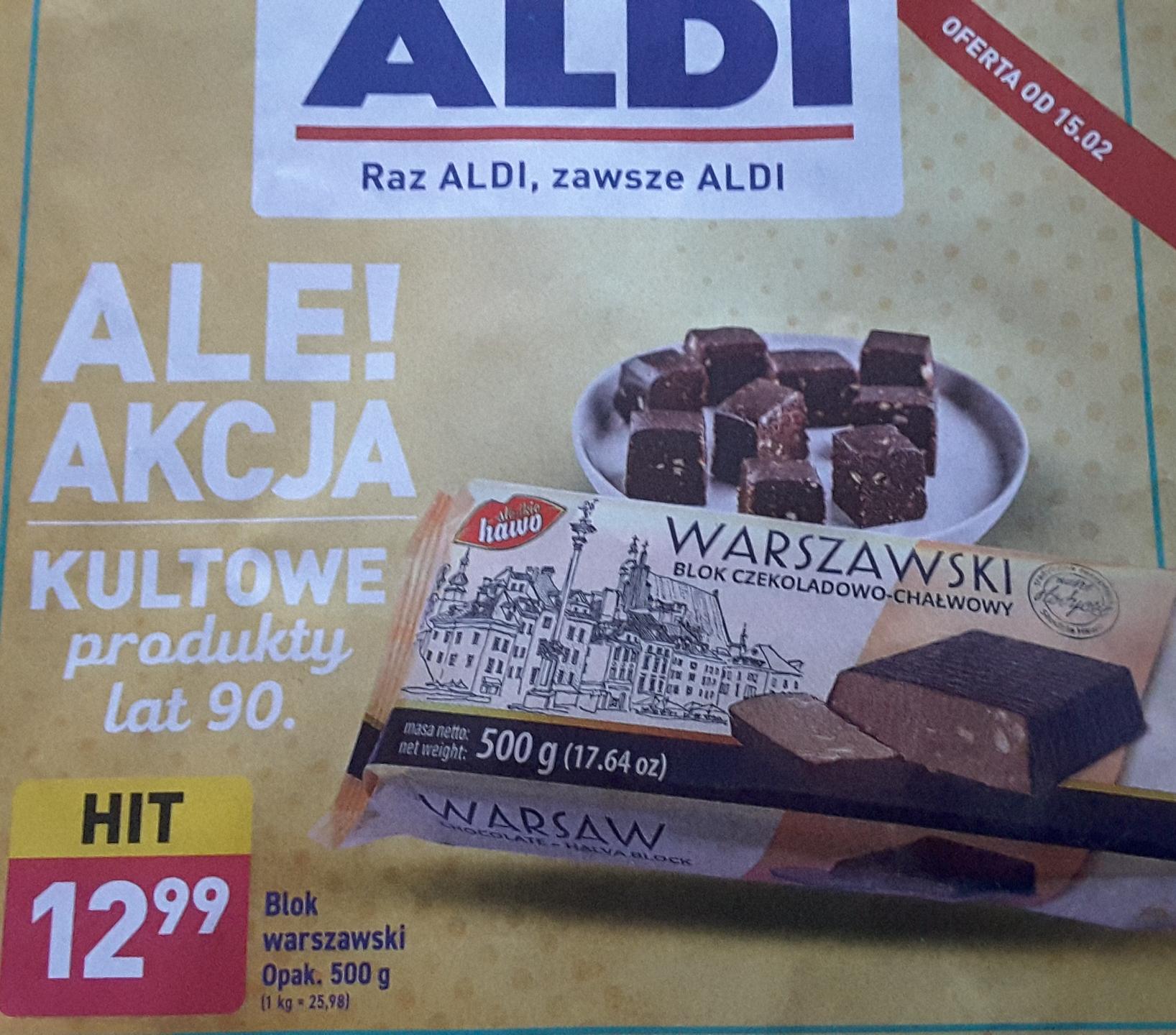 Powrot smakow lat 90-tych blok warszawski 500g w Aldi