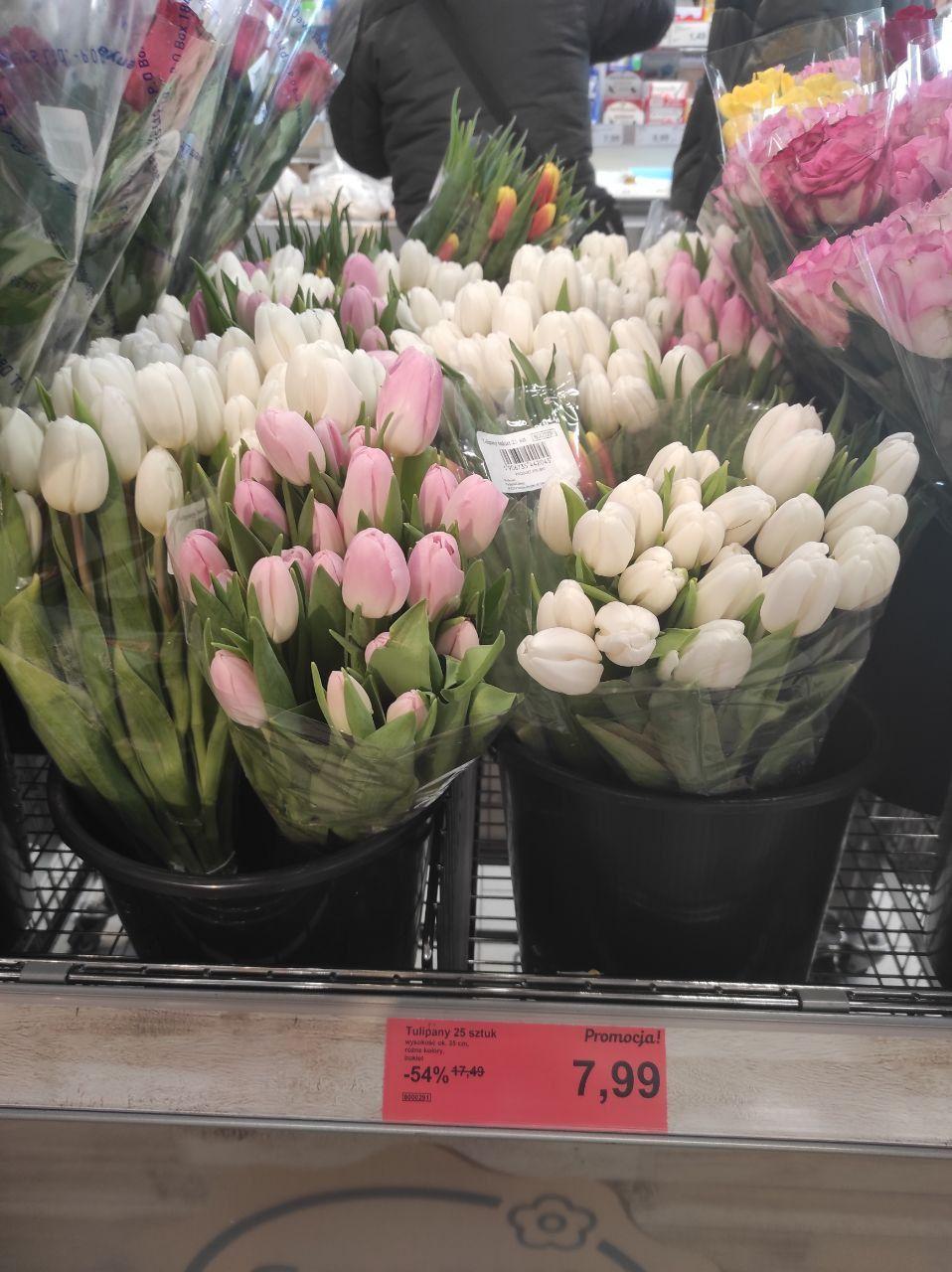 Kwiaty na promocji Aldi (motyw walentynkowy)