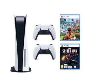 Konsola SONY PlayStation 5 + Dodatkowy kontroler DualSense + Marvel's Spider-Man: Miles Morales + Sackboy: A Big Adventure