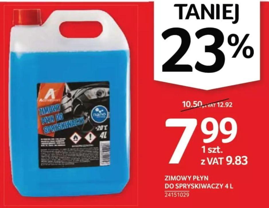Zimowy płyn do spryskiwaczy nano 4 L (5 L 10.84) oraz -35% na wszystkie zapachy samochodowe - Selgros