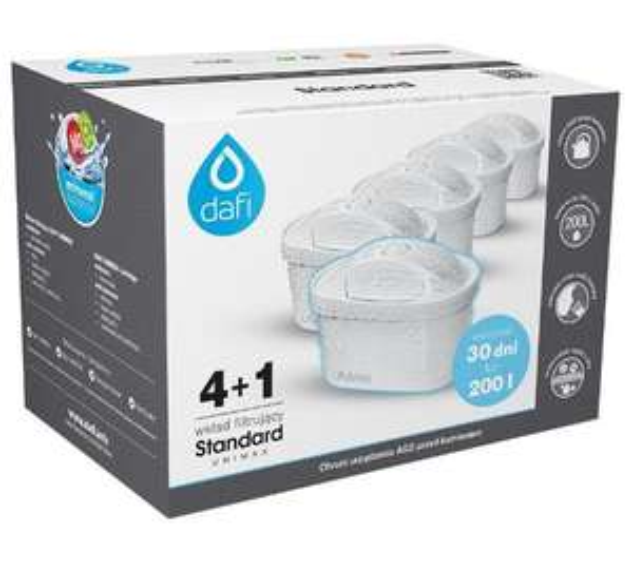 Filtr do wody Dafi Unimax Standard 4+1 (zestaw 5 sztuk). Dostawa do sklepów bez kosztów wysyłki.