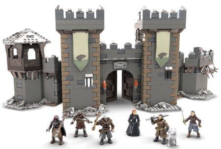 Gra o Tron: The Battle for Winterfell - zestaw 1208 klocków Mattel Mega Construx GMN75