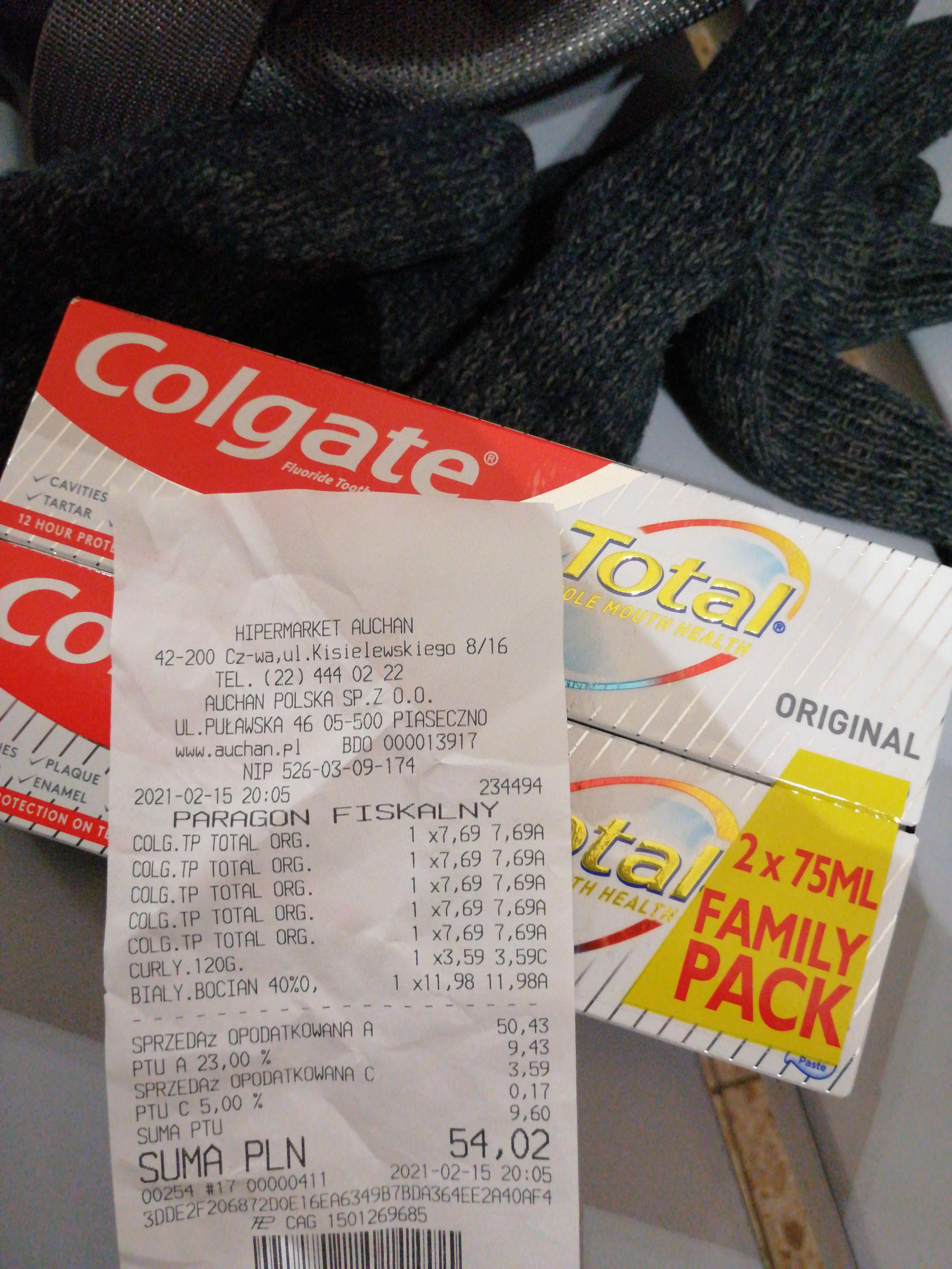Pasta do zębów Colgate Total 2 pak za 8 zl