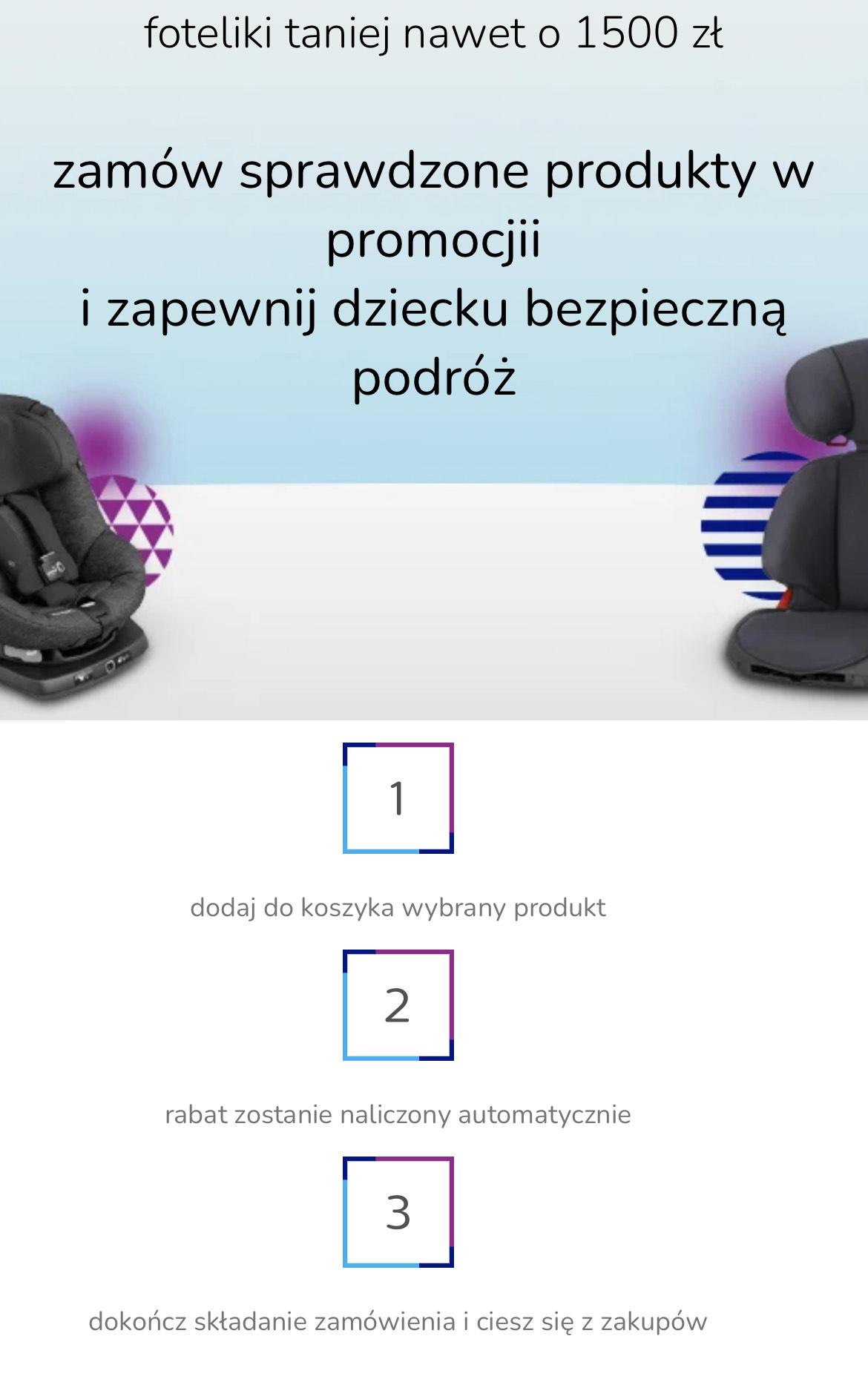 Zbiorcza, aplikacja al.to: foteliki taniej o nawet 1500 zł