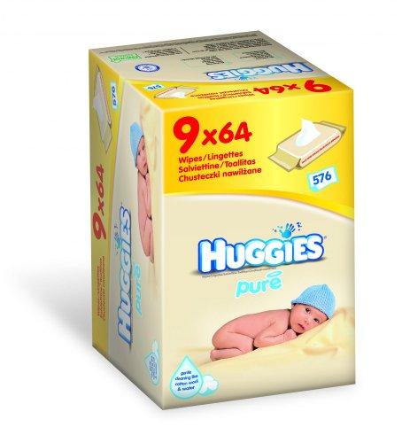 Chusteczki nawilżane dla dzieci firmy Huggies, 9 opakowań w cenie 39zł @ Mall.pl