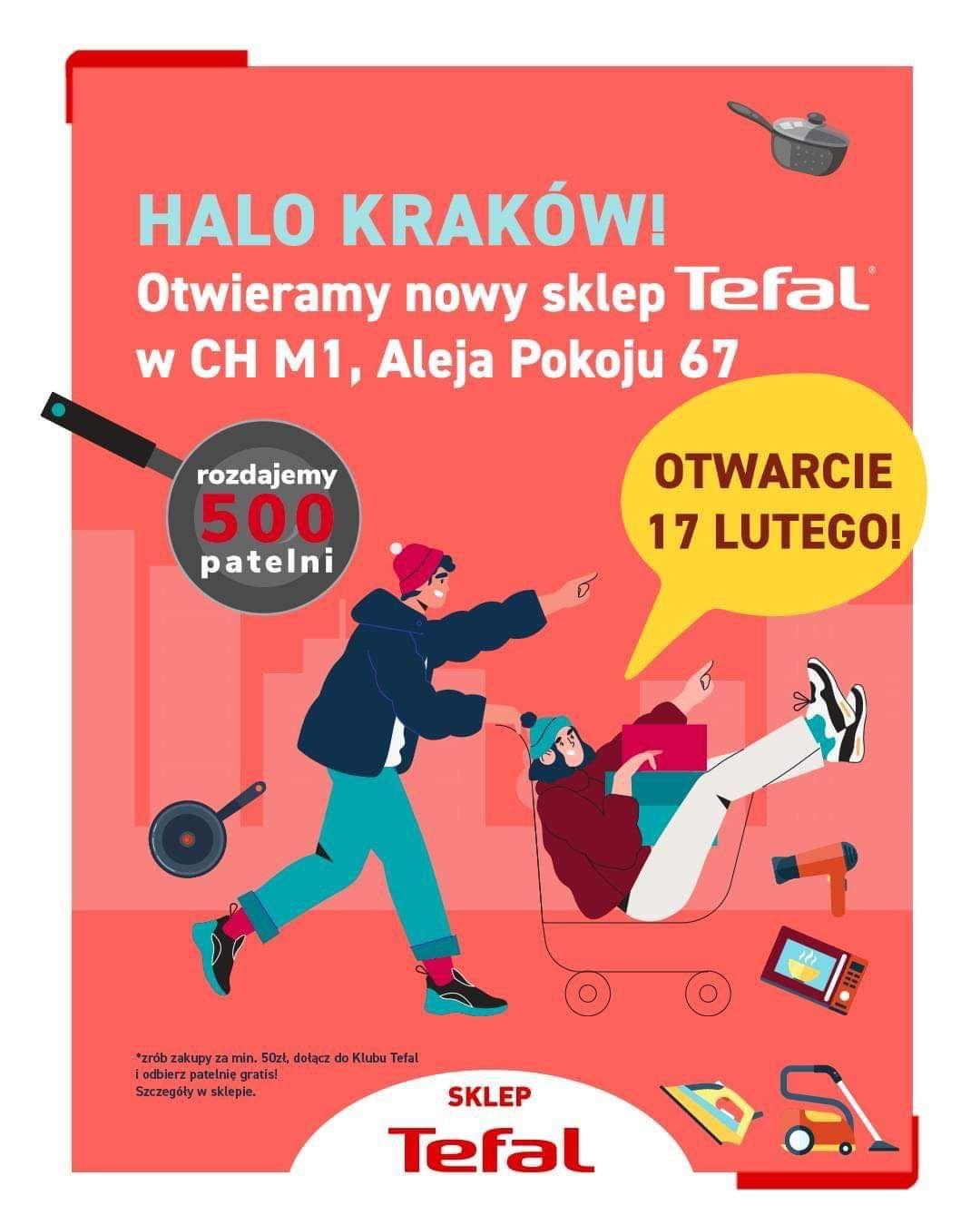 Patelnia gratis za zakupy za 50 zł w Tefal