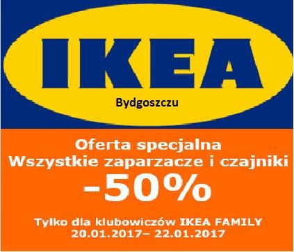 Zaparzacze/Czajniki -50% (tylko 20-22.01) IKEA Bydgoszcz (oferta lokalna)