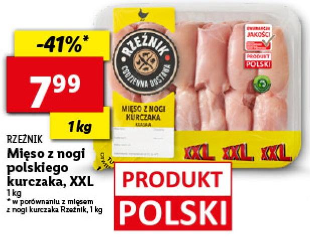 Mięso z nogi kurczaka polskiego LIDL 7,99zł/kg