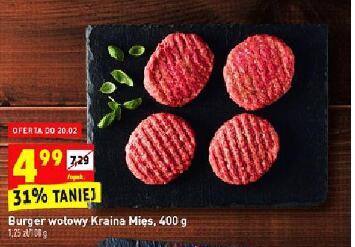 Burger wołowy 400 g @Biedronka