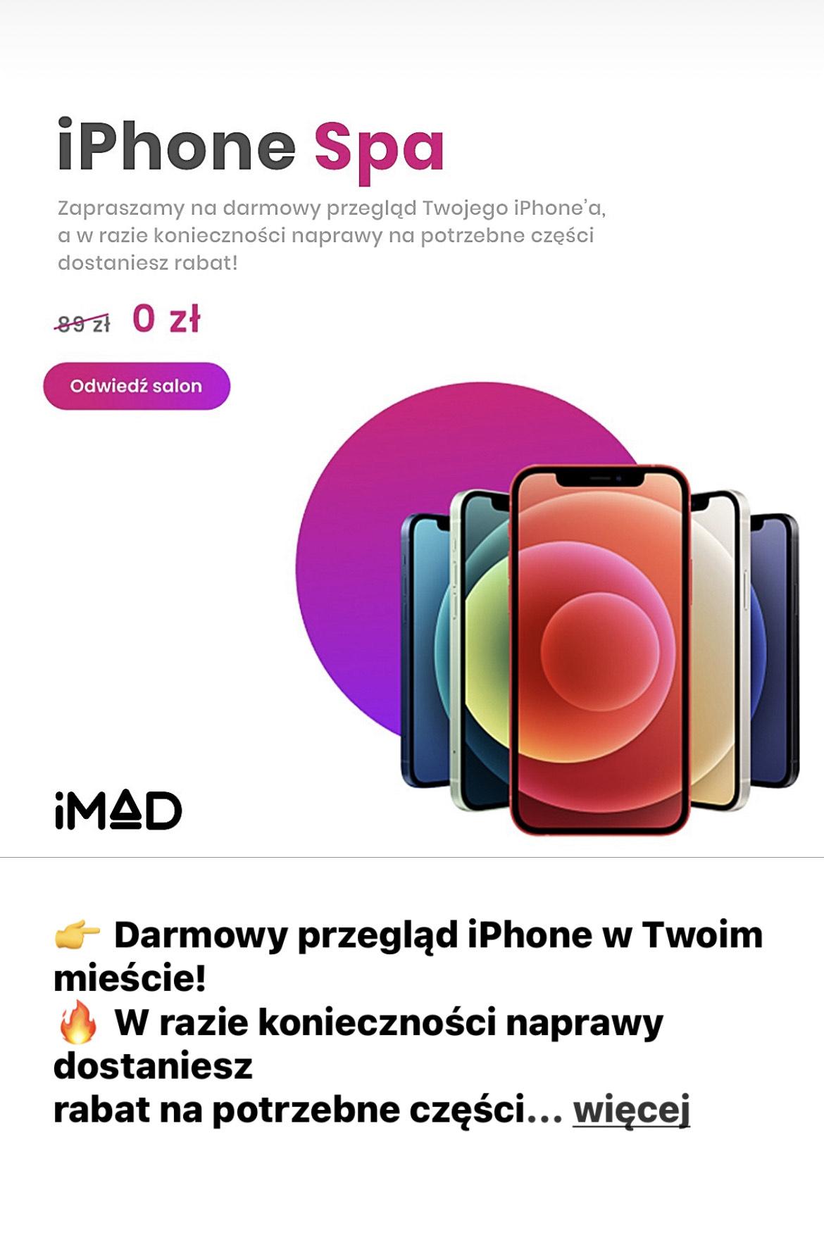 Bezpłatna weryfikacja iPhone w IMad