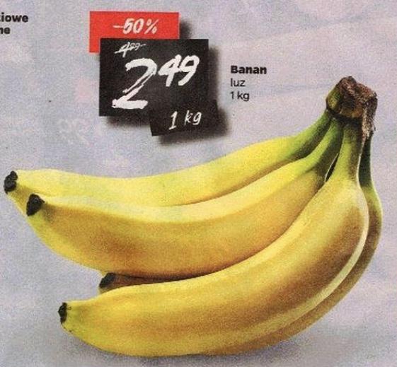 Banany luzem 2,49 zł/kg @Netto