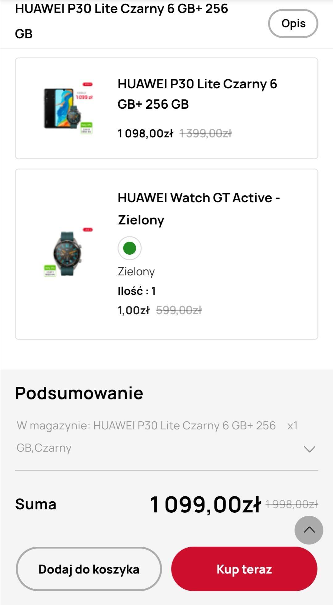 Huawei P30 lite 6/256 + Huawei Watch Gt Active