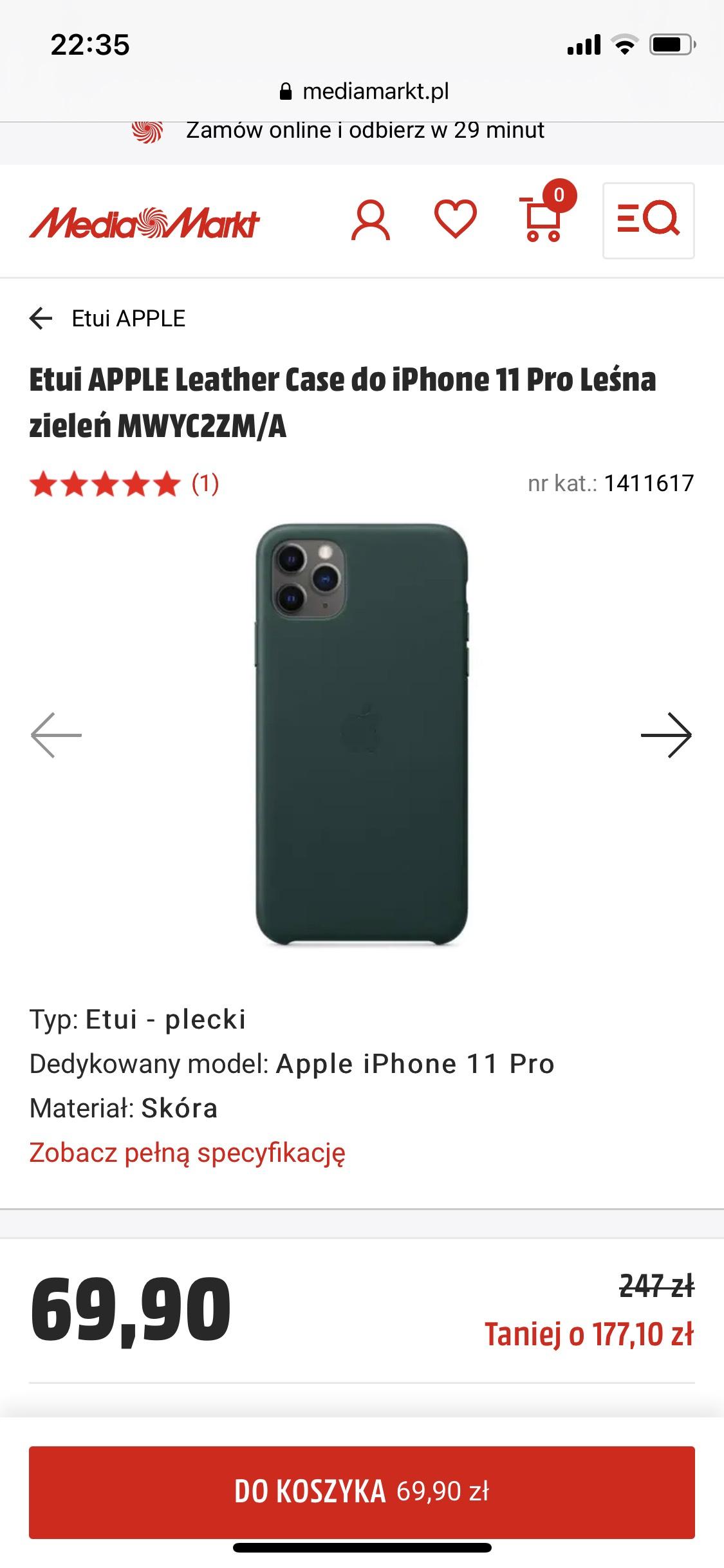 Etui APPLE Leather Case do iPhone 11 Pro