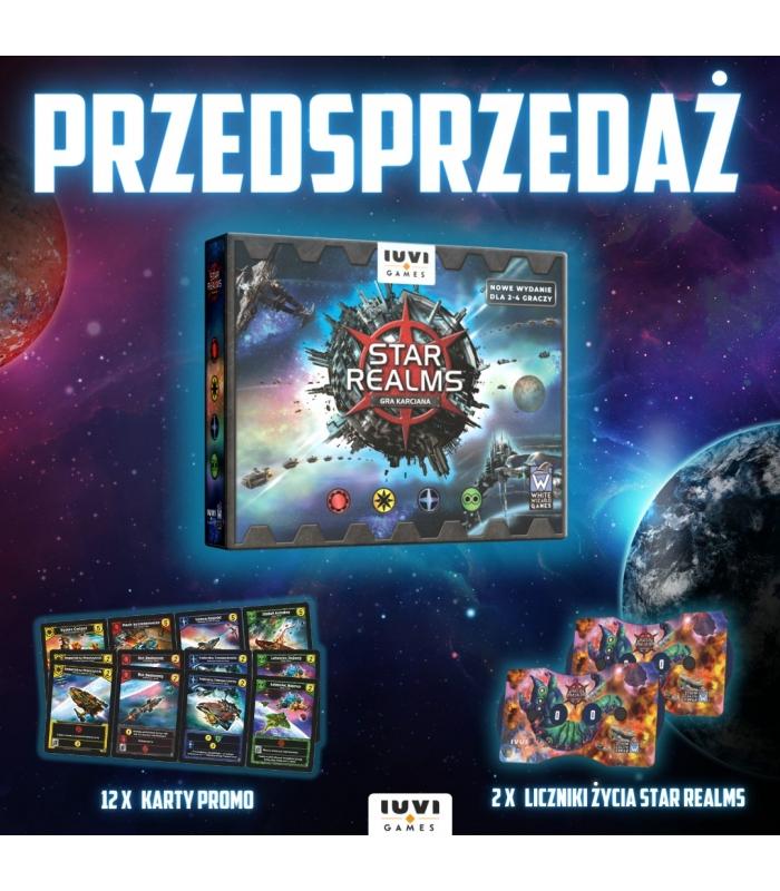 Gra karciana Star realms dodruk + gratisy (karty promocyjne + liczniki życia)