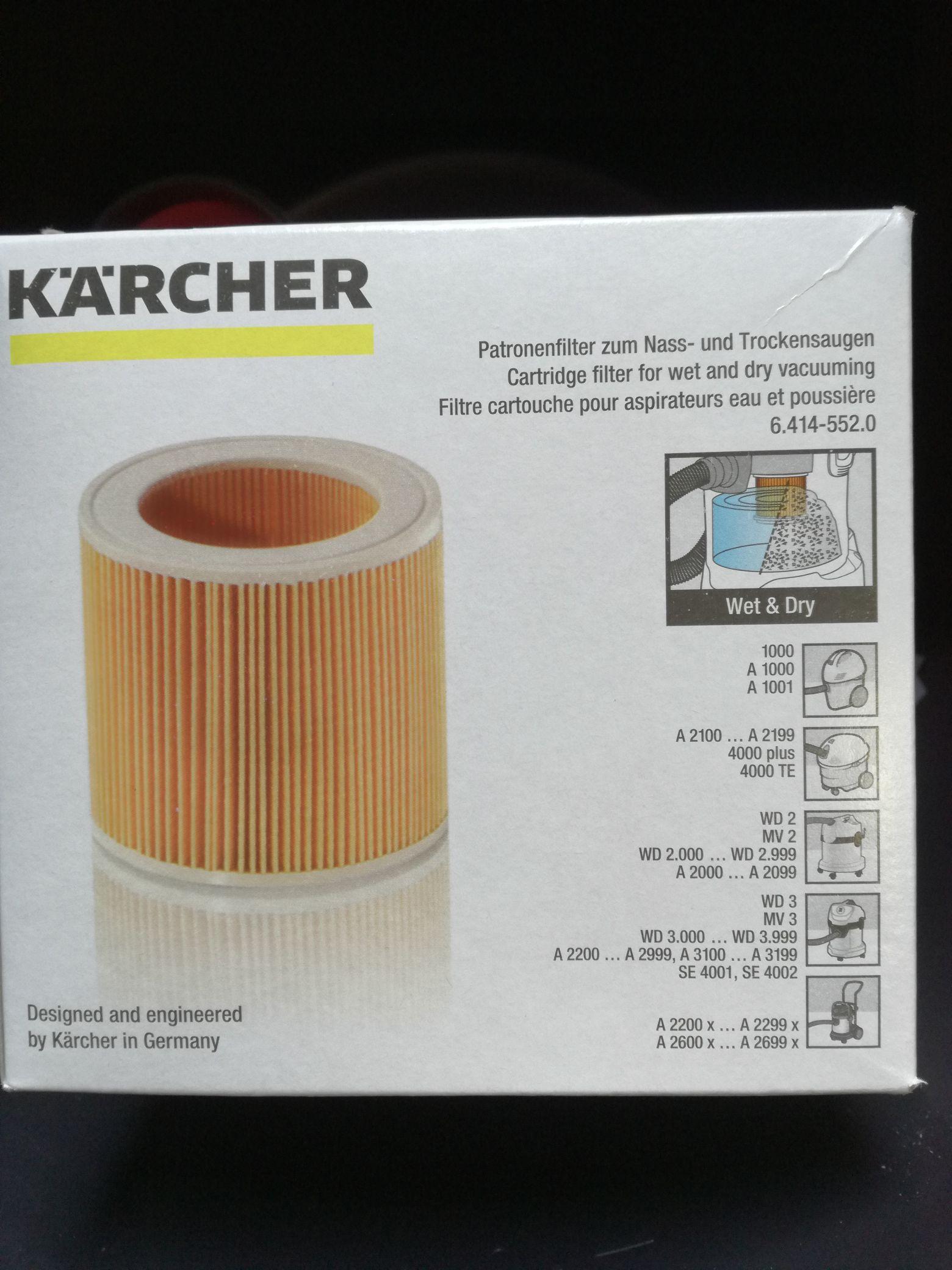 Filtr odkurzacza WD3 oryginał Karcher