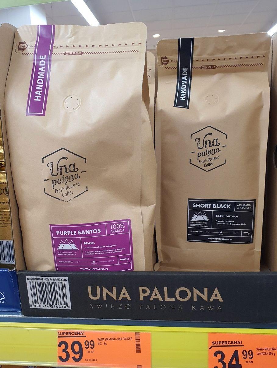 Una Palona 1kg świeżo palona kawa ziarnista @ Biedronka