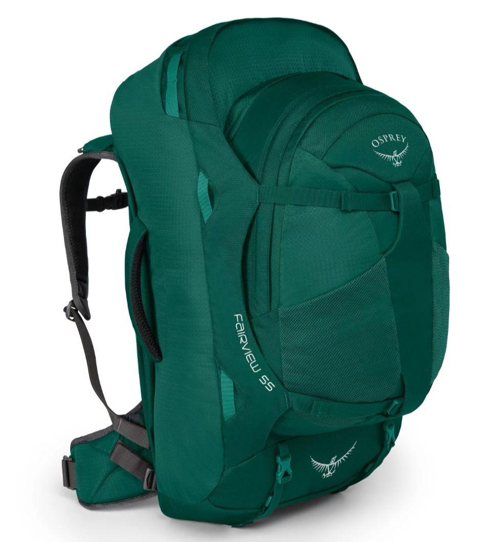 Osprey Damski plecak podróżny 55 l z systemem nośnym i wyjmowanym plecakiem dziennym 13 l.