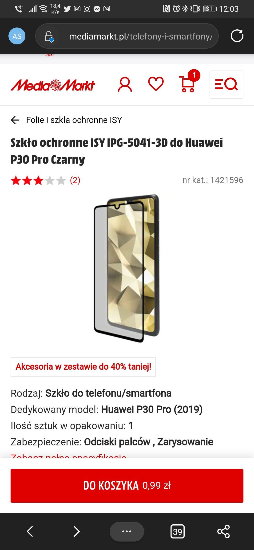 Szkło ochronne do Huawei P30 Pro