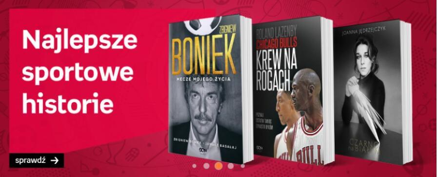 Najlepsze sportowe historie: rabaty na książki o tematyce sportowej