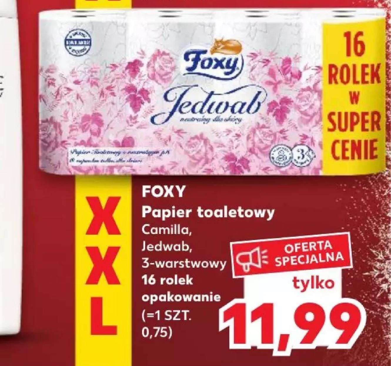 Papier toaletowy FOXY 3-warstwowy 16 rolek | Kaufland