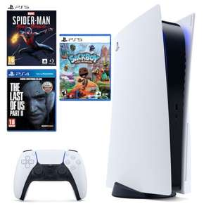 Konsola SONY PlayStation 5 + Spider-man Miles Morales + The Last of Us 2 + Sackboy a Big Adventure