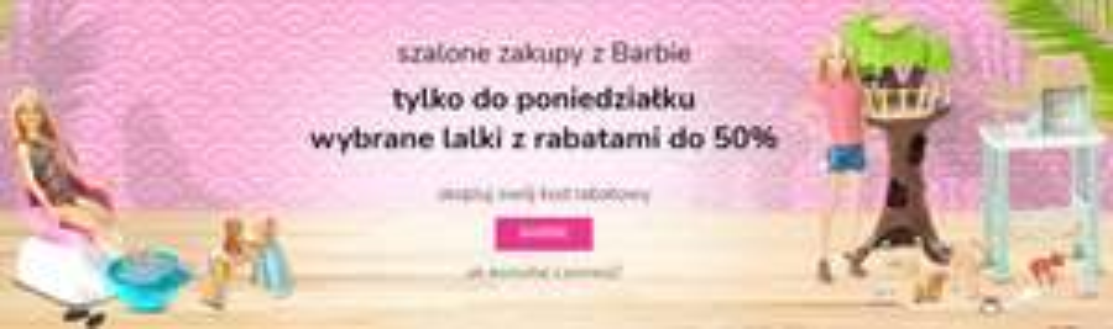 Rabaty do 50% na lalki Barbie