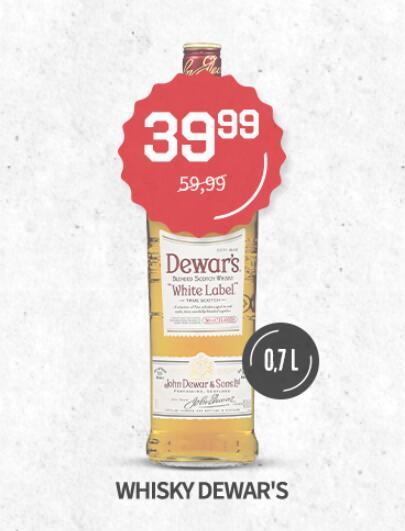 Dewar's White Label 0,7 whisky w sklepach Duży Ben; Talisker 10 139,99zł
