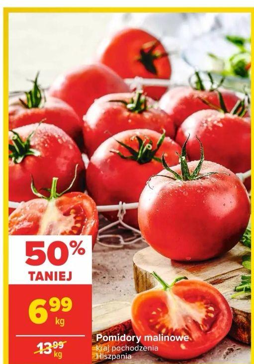 Bardzo dobra cena za Pomidory malinowe 1kg w Careffour.