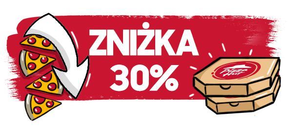 Zniżki 30% oraz 15zł w PIZZA HUT