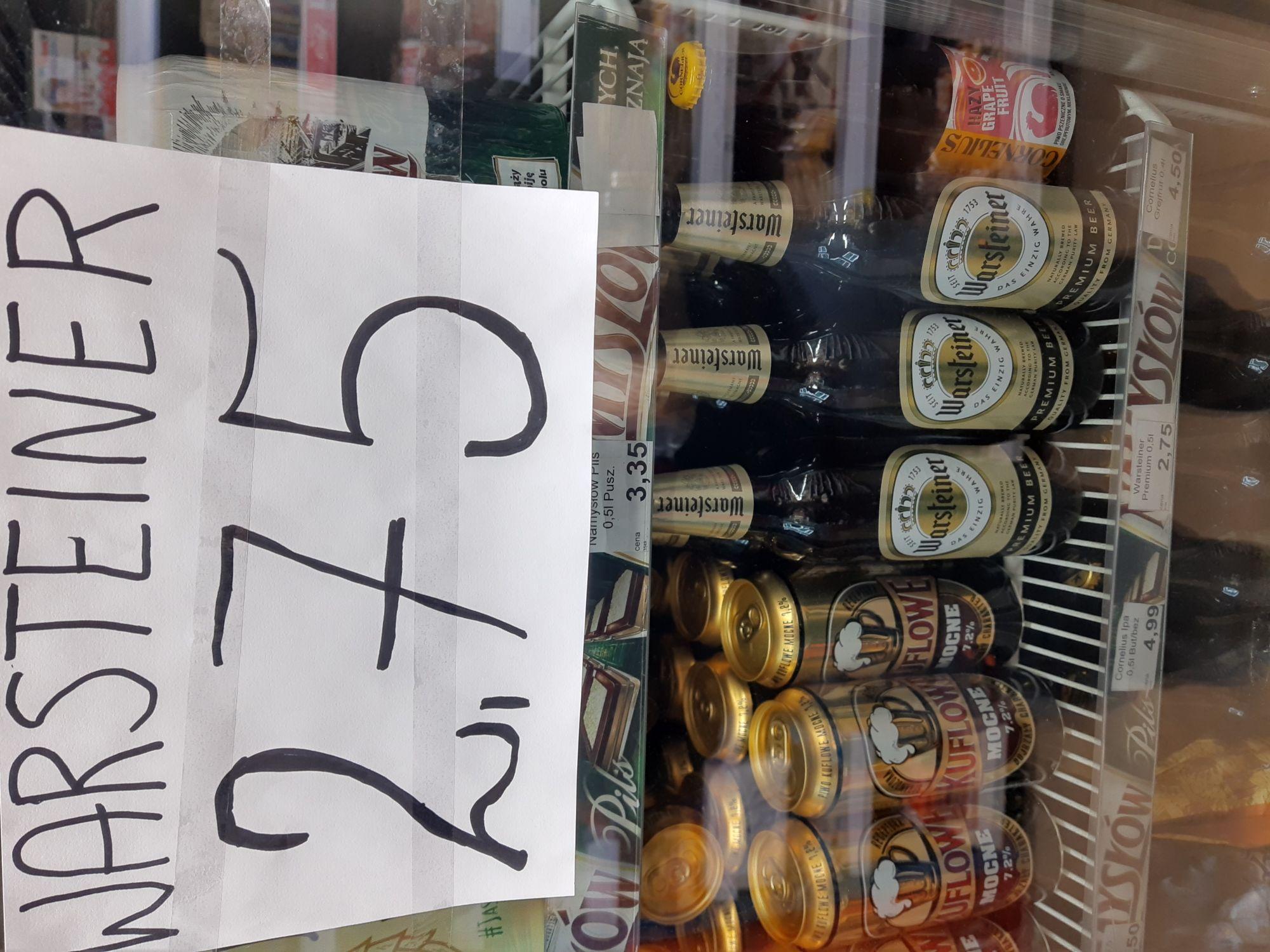 Piwo Warsteiner w niespotykanej cenie Harnasia w Chorten Ursynów