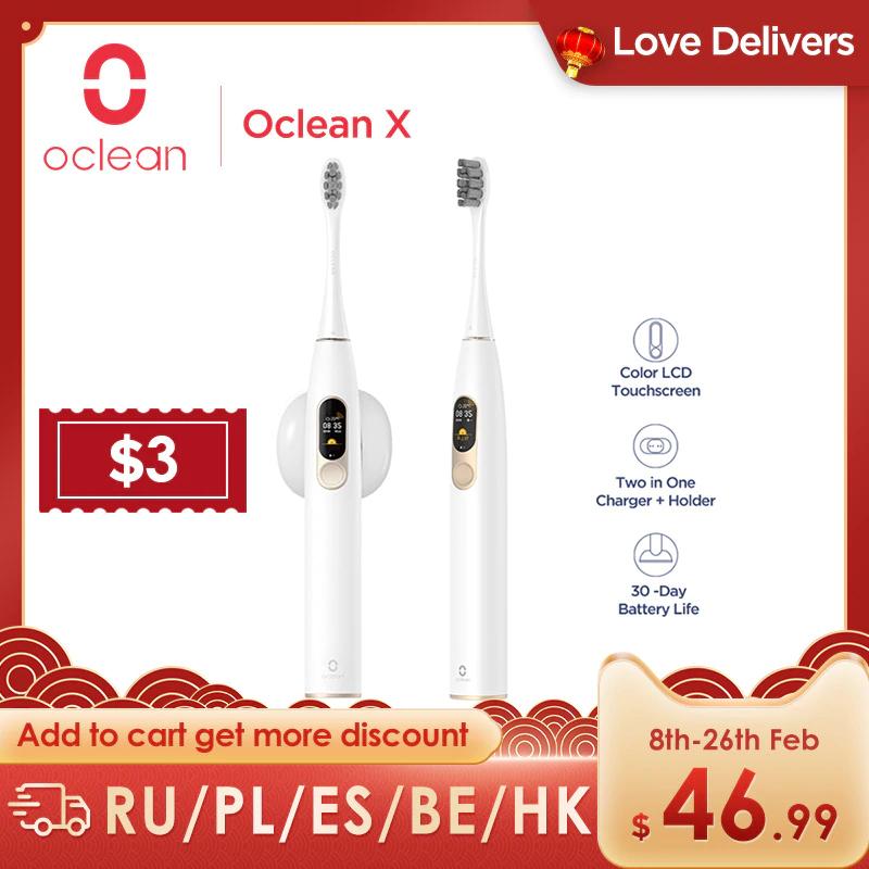 Szczoteczka soniczna Oclean X z darmową dostawą z PL za $36.99