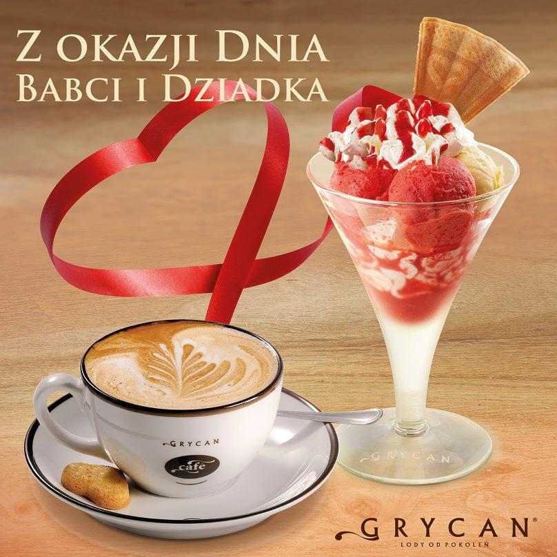 Dzień Babci i Dziadka - kawa gratis do deseru @ Grycan