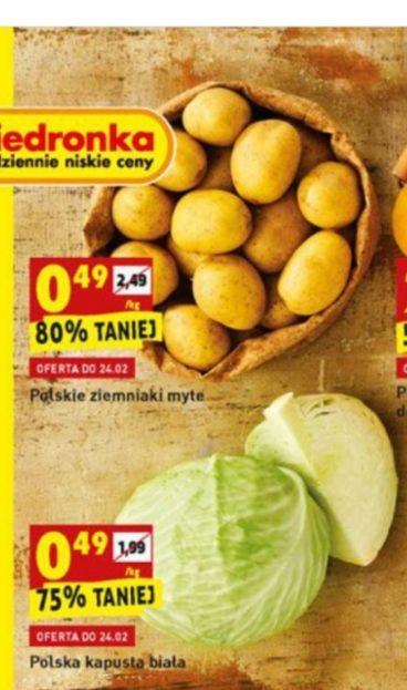 Ziemniaki i kapusta biała za 49 gr !! - Biedronka