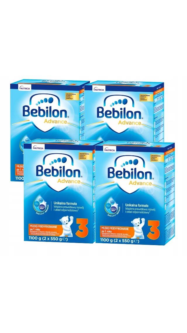 Bebilon 3 mleko modyfikowane 4 x 1100 g błąd cenowy