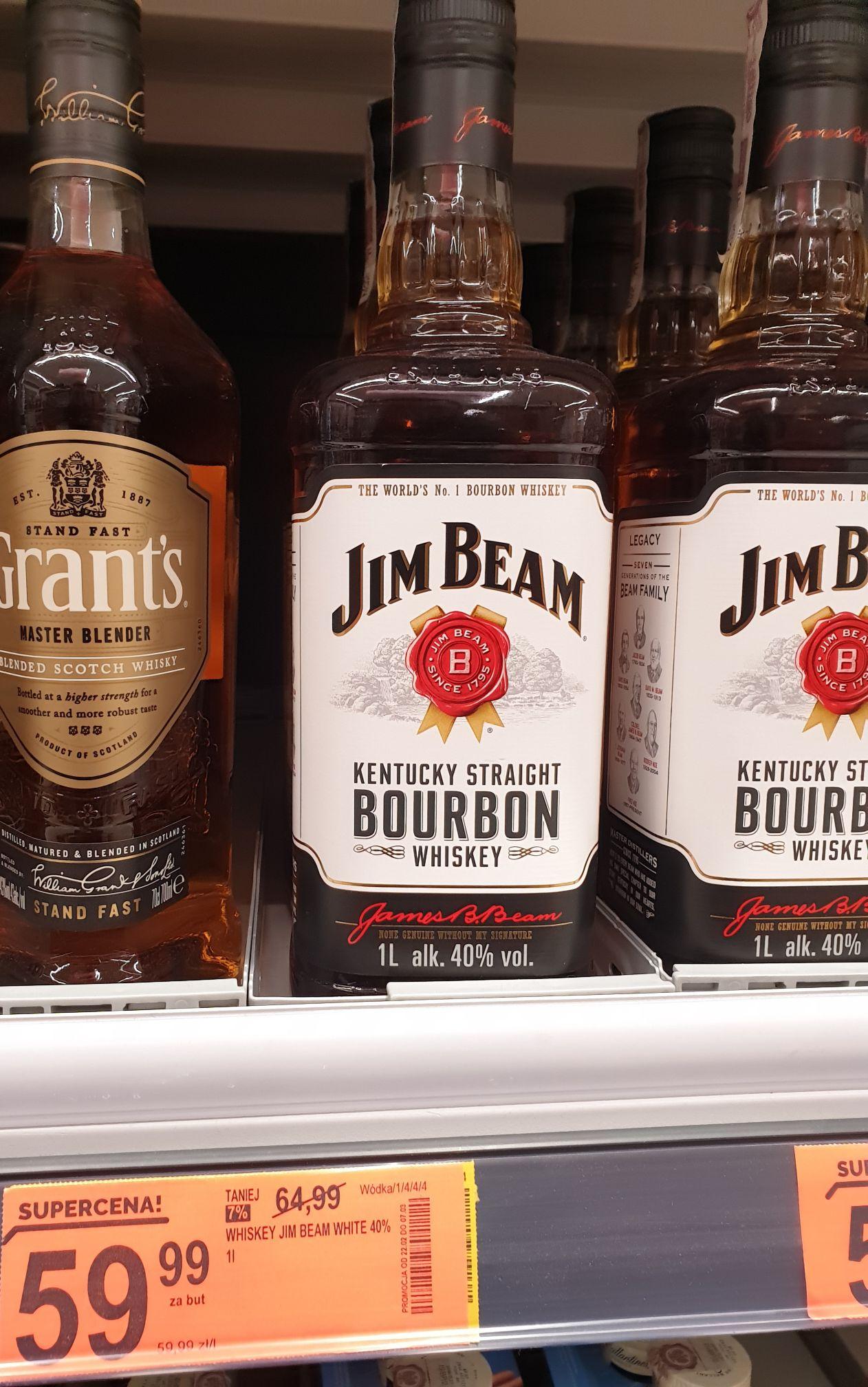 Jim Beam Bourbon Whiskey 1L