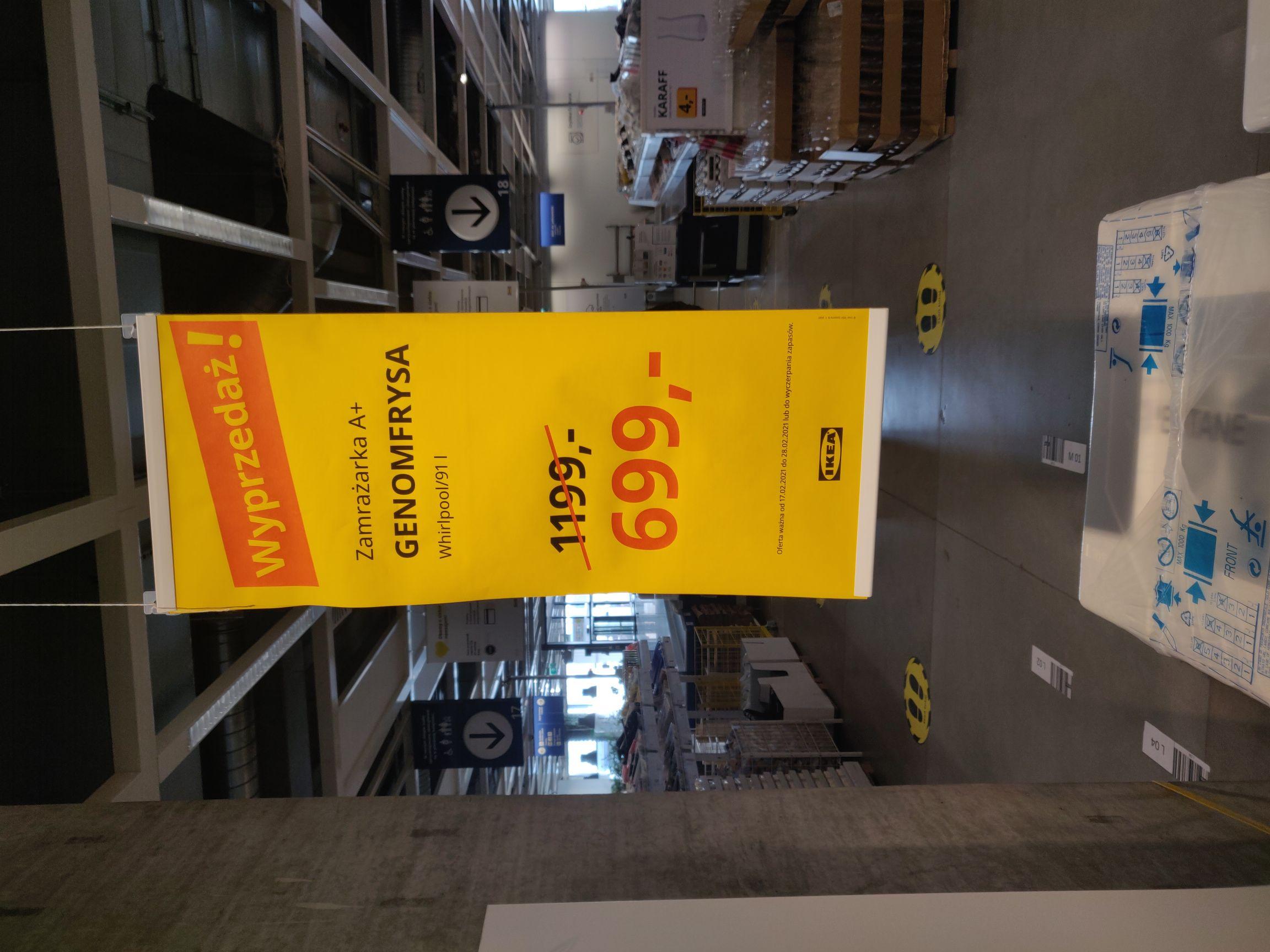 Zamrażarka do zabudowy Ikea Genomfrysa