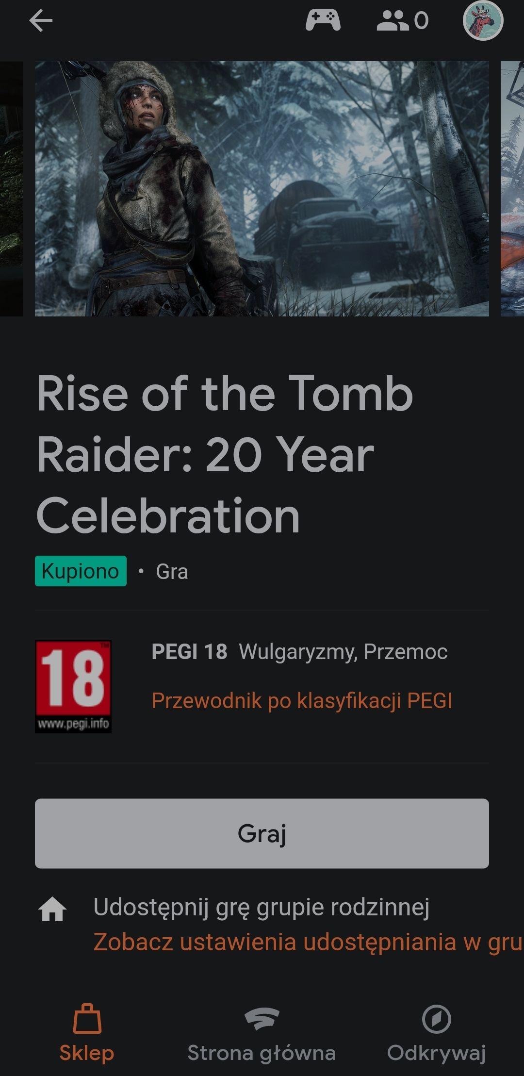 Stadia - Rise of the Tomb Raider