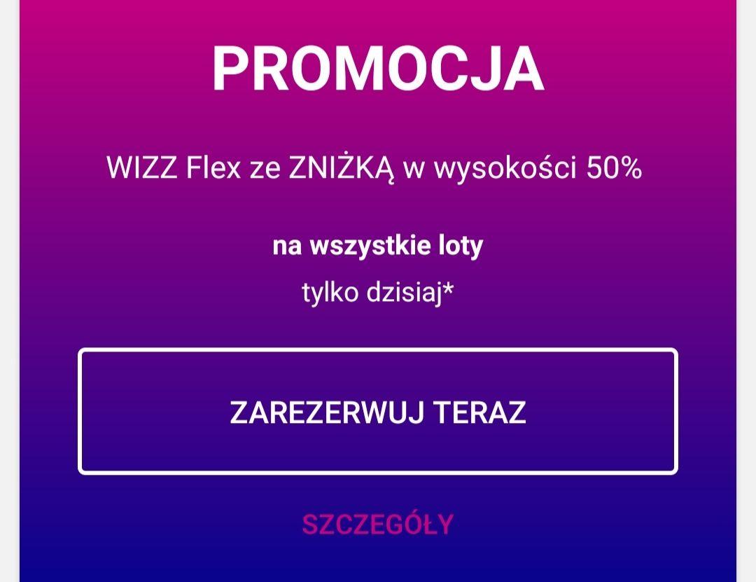 -50% na Wizzair flex