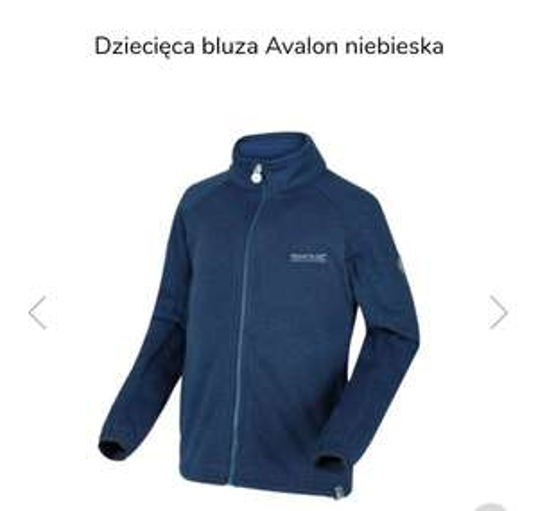 Regatta Dziecięca bluza Avalon niebieska
