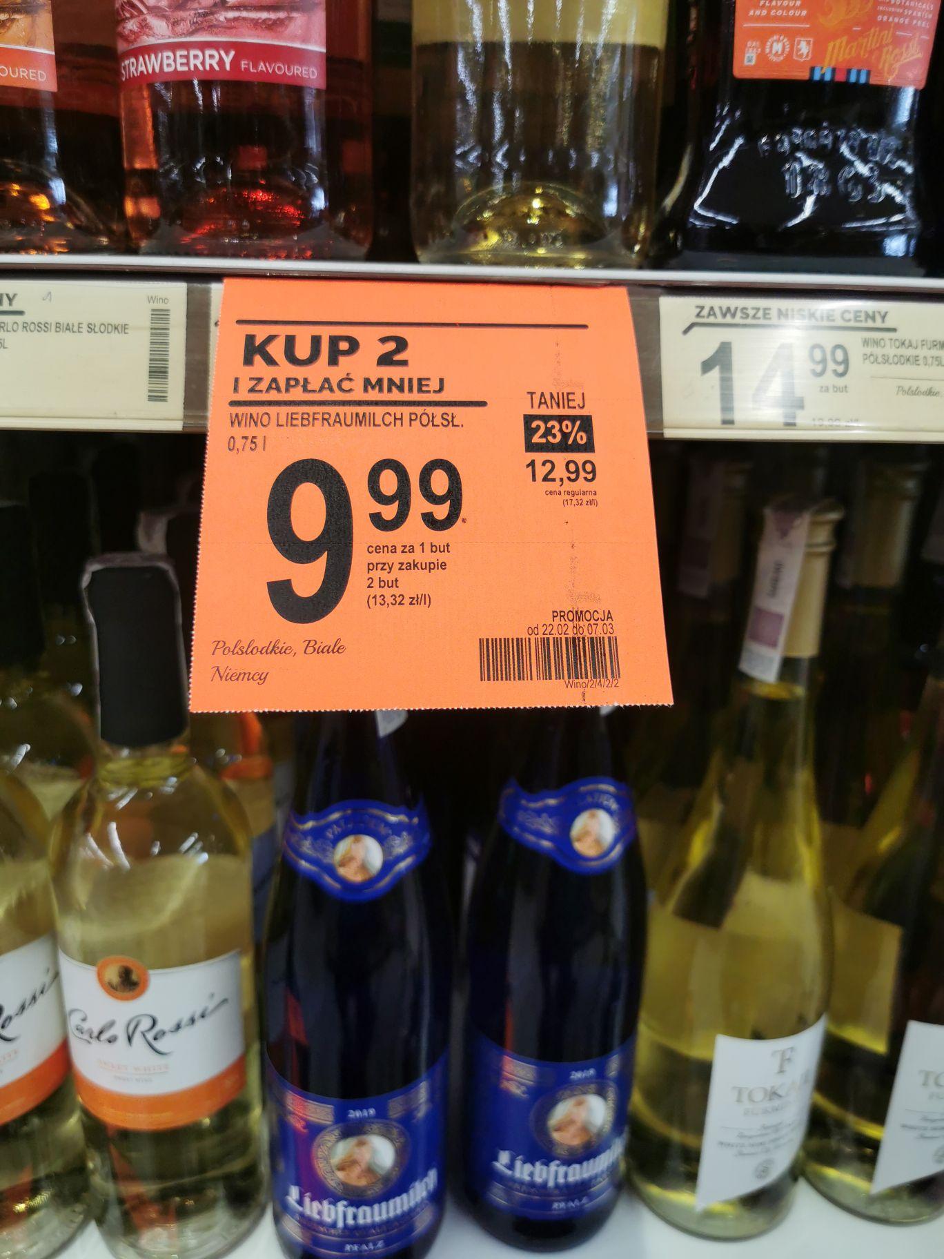 Wino białe półsłodkie 0,75L Liebfraumilch - Biedronka przy zakupie 2