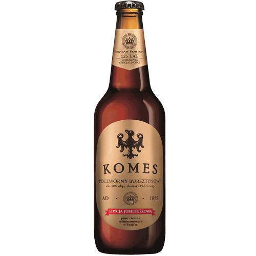Piwo KOMES poczwórne, porter, potrójny Butelka zwrotna 0,5L 9,98 zł\L